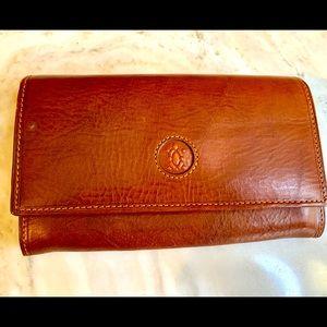 Francesco Biasia brown vegan leather wallet